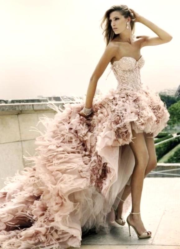 9ed4d1e4431fa55 Короткие свадебные платья со шлейфом