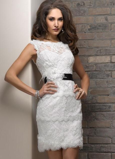 29bfeab6c538249 Короткое белое кружевное платье