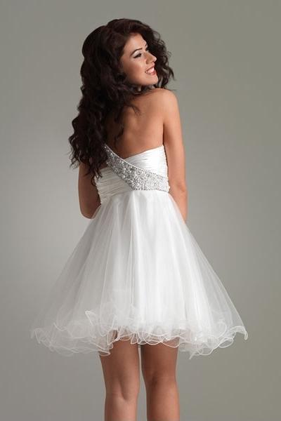0c6b3809239 Короткое белое платье 1 ...