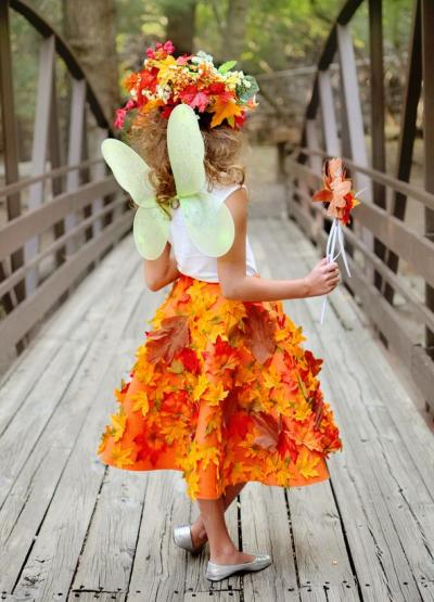 Платье из листьев своим руками 29