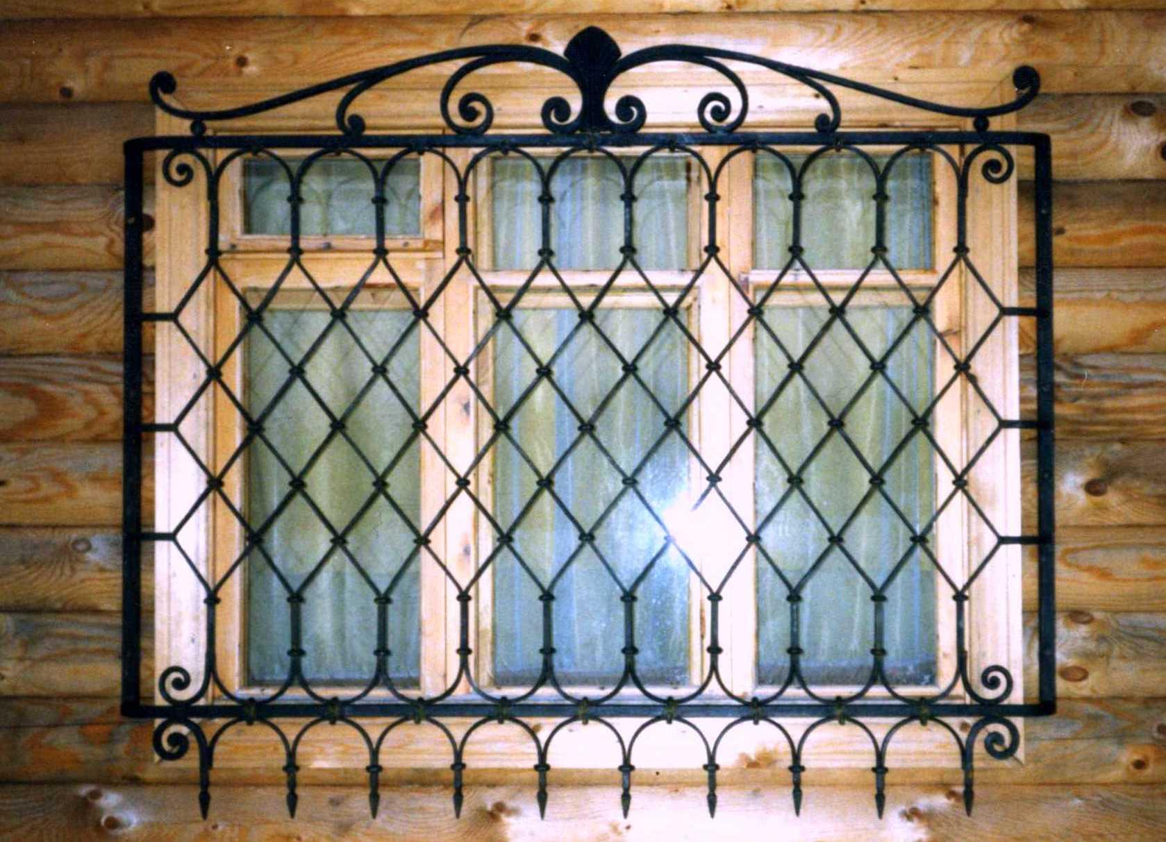 кованая решетка на окно фото