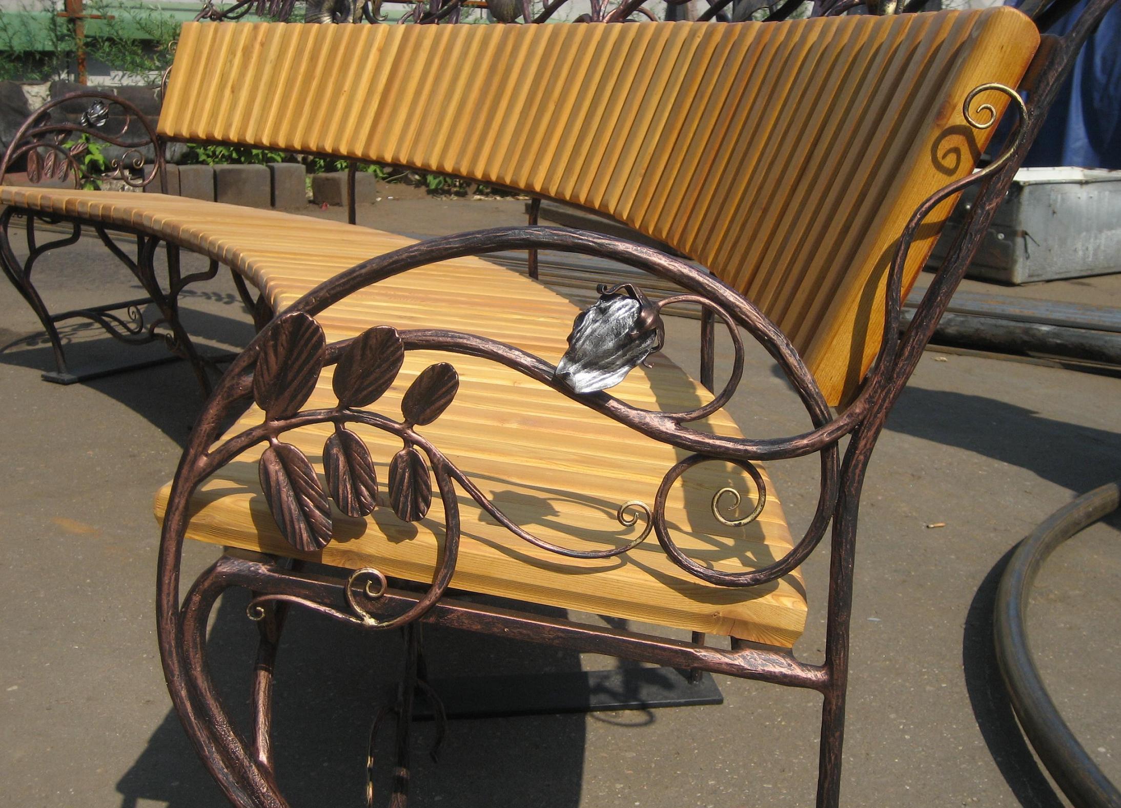 Кованые скамейки своими руками фото 498
