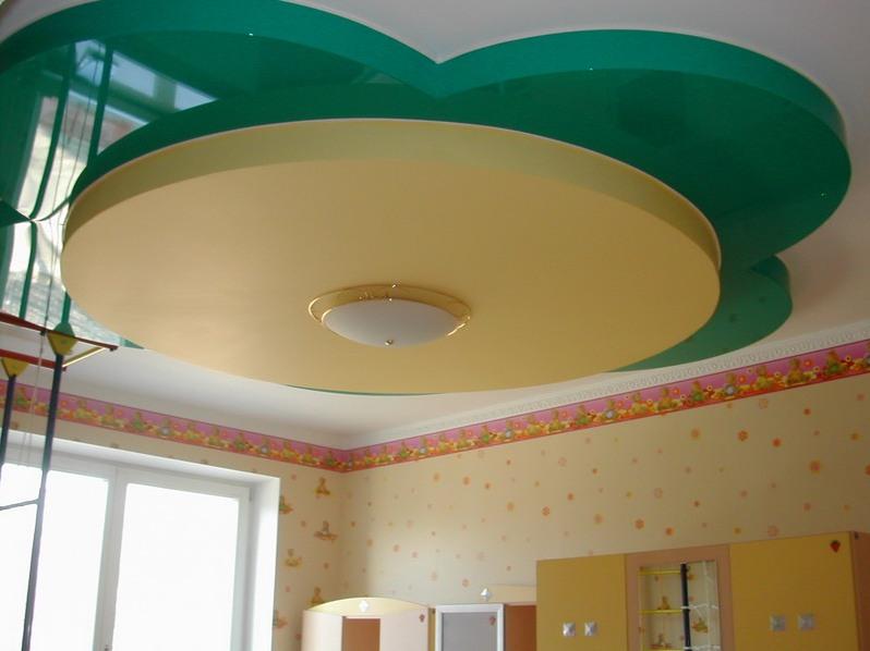 Цветок на потолке из гипсокартона своими руками: идеи и монтаж
