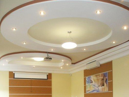 Потолок из гипсокартона своими руками круг 158