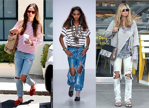 Большие дырки на джинсах