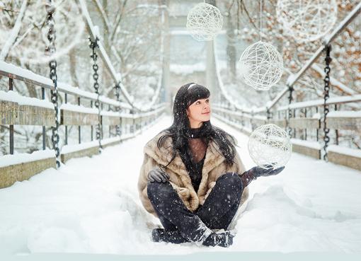 Идеи фото девочки зимой