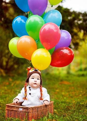 Фотосессия с шарами - идеи для проведения фотосессии с 59