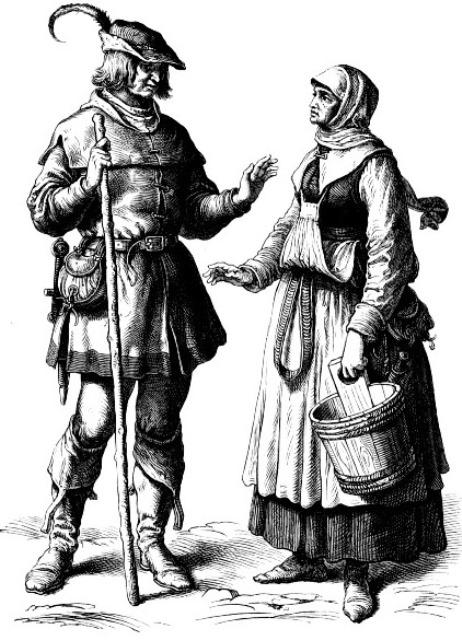 как одевались крестьяне в европе 4 ... 75a9aff62e4
