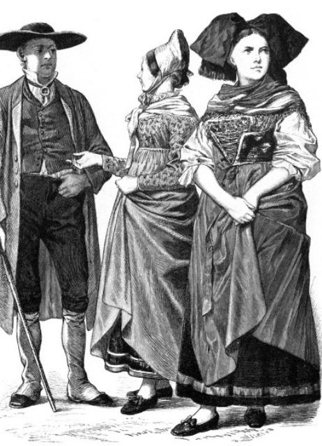 как одевались крестьяне в европе 7 ... 4616fa124c2