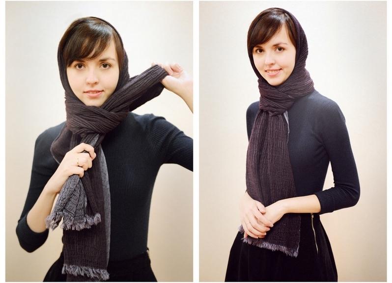 успел его как правильно завязать шарф на голову фото контрастировало