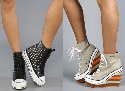 кроссовки на каблуках фото