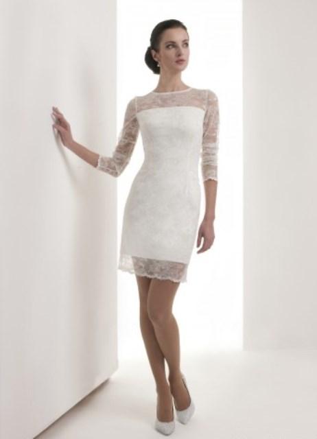 7d713610c5a короткое кружевное свадебное платье 1 ...