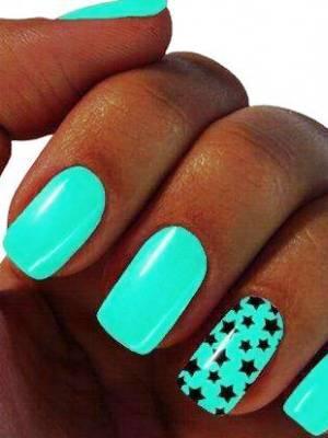 ногти бирюзового цвета фото