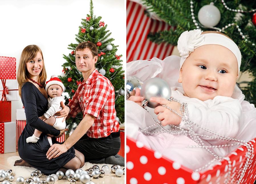 Новогодняя фотосессия с ребенком фото
