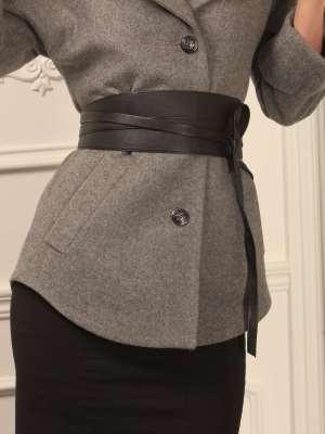 Ремень кушак кожаный тонкие ремни для мужских брюк