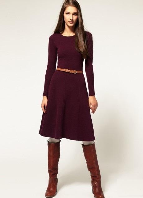 dabcbab4d946 ... С чем носить бордовое платье 2 ...