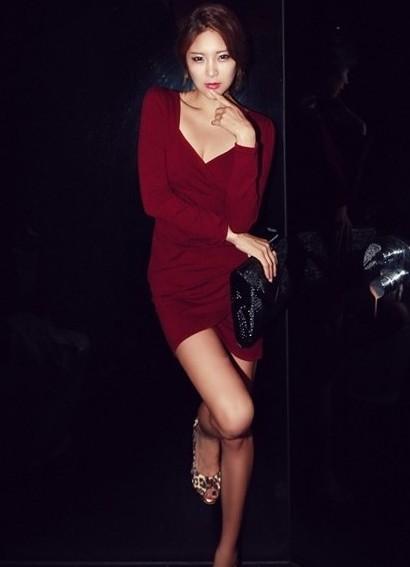 90eb24d1b902 ... С чем носить бордовое платье 3