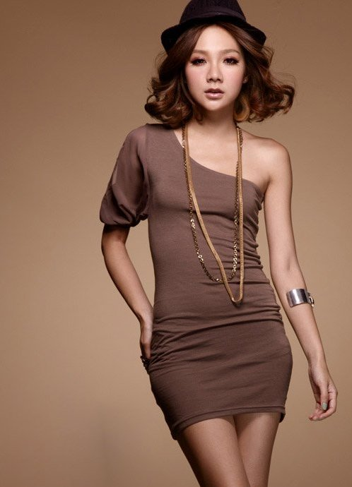 Кофейное платье с чем носить фото
