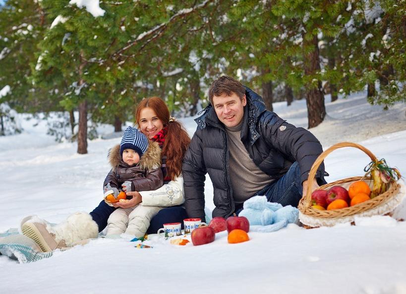 ребенком с зимних фото фотосессий