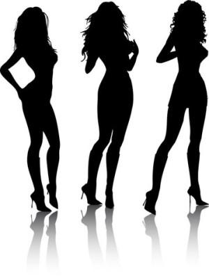 Красивые и сексульные силуэты девушек
