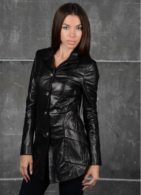 кожаные женские куртки фото