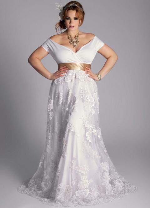 32cabe23290a3b2 Свадебные платья для полных невест