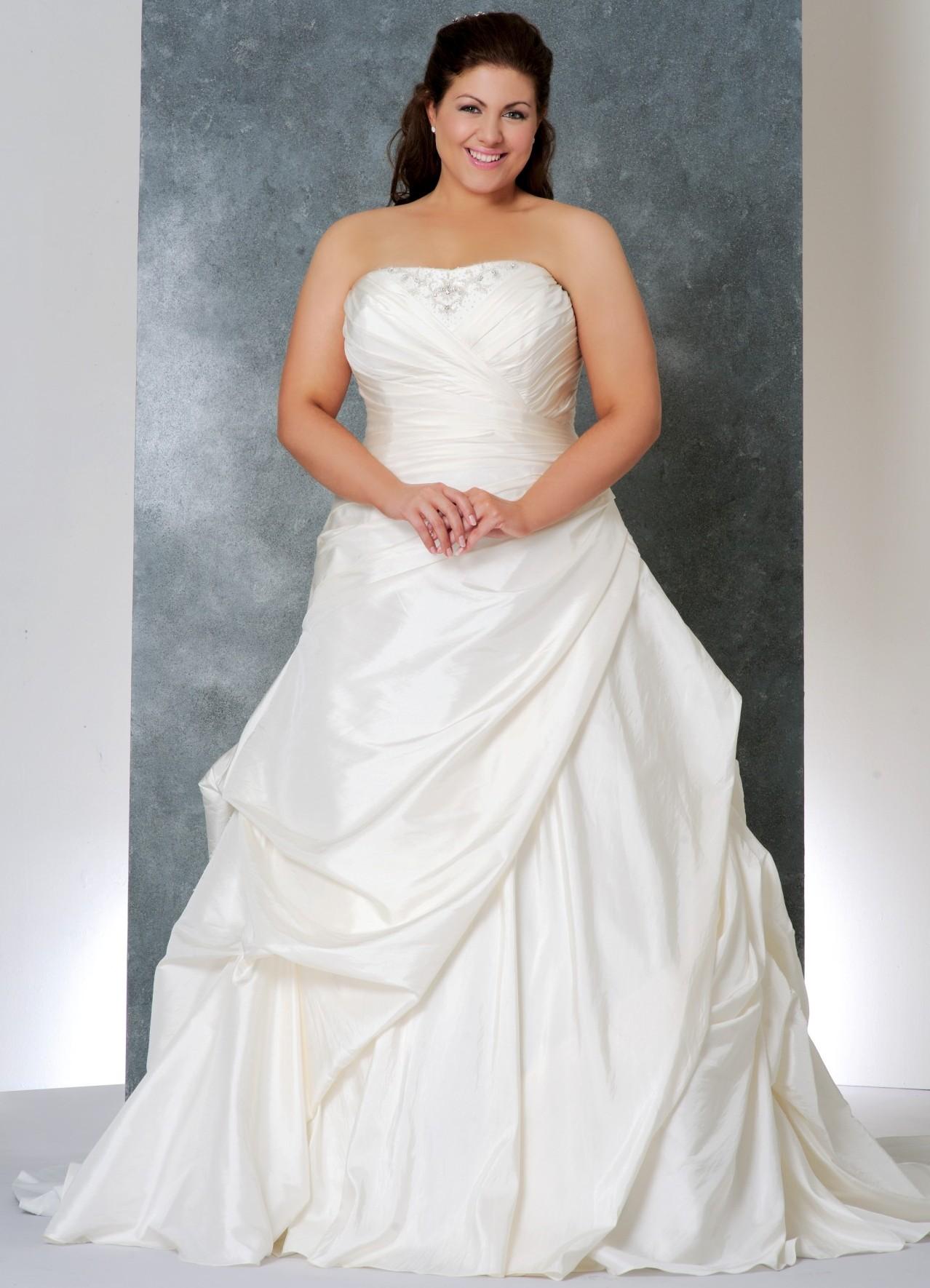 про свадебные платья фото для толстушек перед