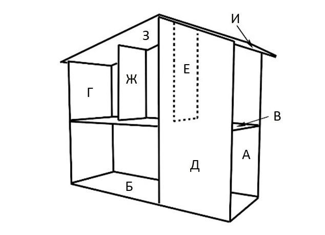 Как сделать кукольный домик из фанеры: чертежи