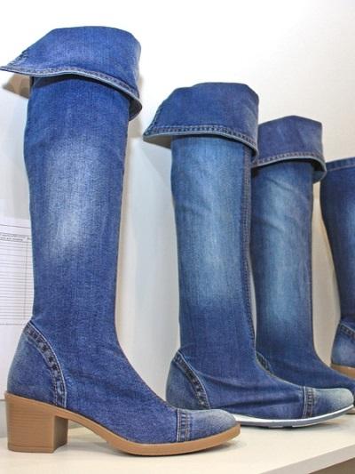 84d8f4bfa Летние джинсовые сапоги