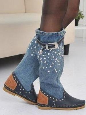 8b85f0255 Летние джинсовые сапоги13 ...