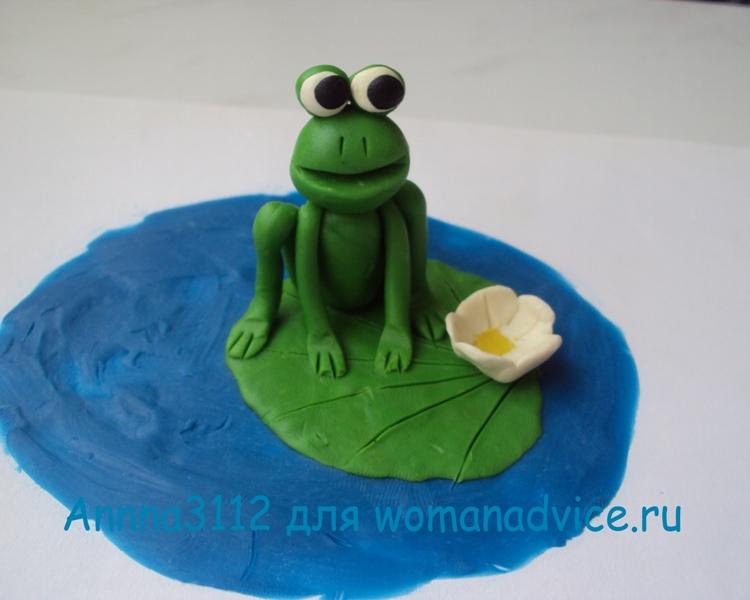лягушка царевна из пластилина картинки один наиболее простых