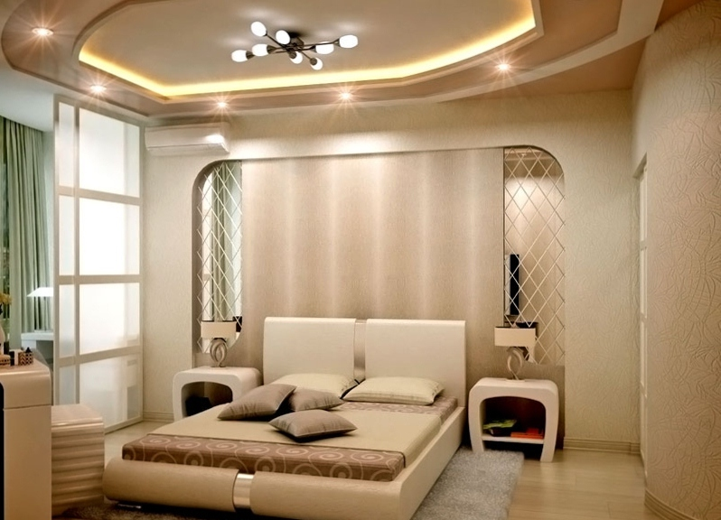 Дизайн подвесных потолков фото в спальне