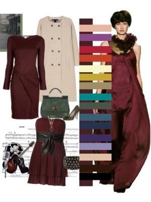 Цвет коралловый платья и цвет волос