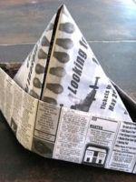 Как сделать пилотку из газеты?