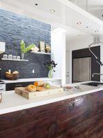 Кухня без верхних шкафов - дизайн