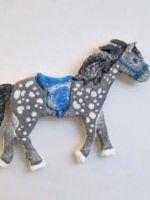 Лошадки из соленого теста