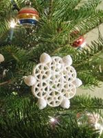 Cнежинки из макарон