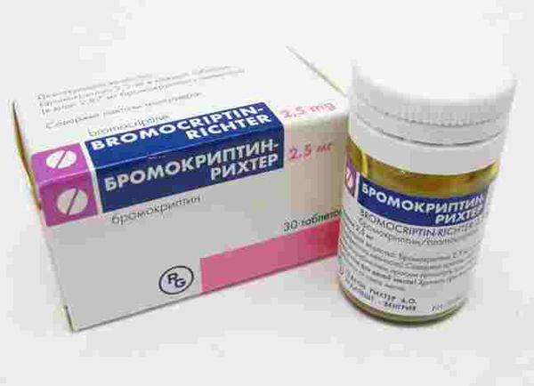 Бромокриптин для прекращения лактации
