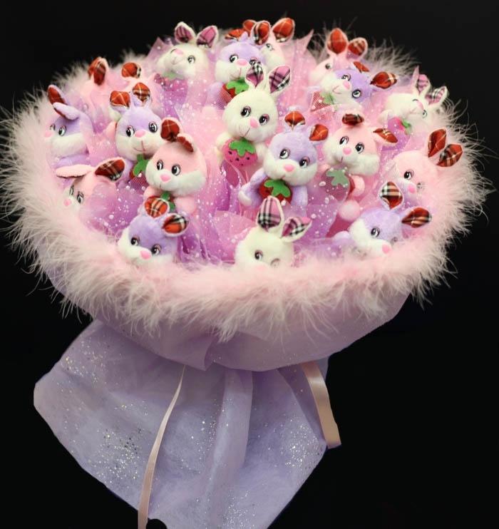 Цветы из органзы своими руками (букет, топиарий).Мастер 64