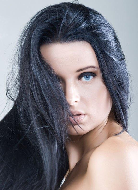 Черные волосы Брюнетки С Черными Глазами