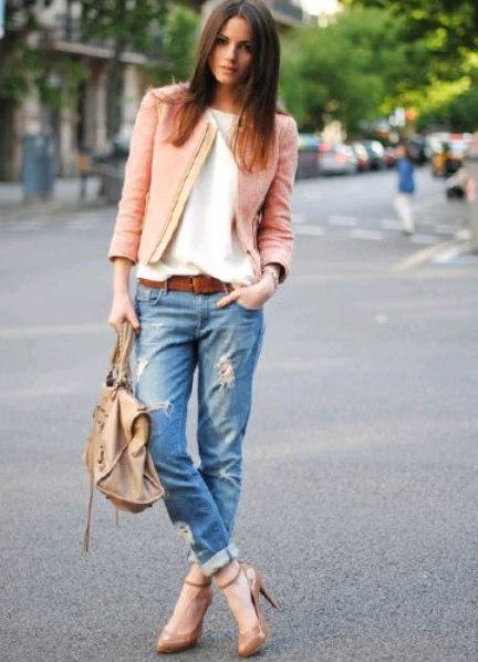 что одеть в кафе с джинсами