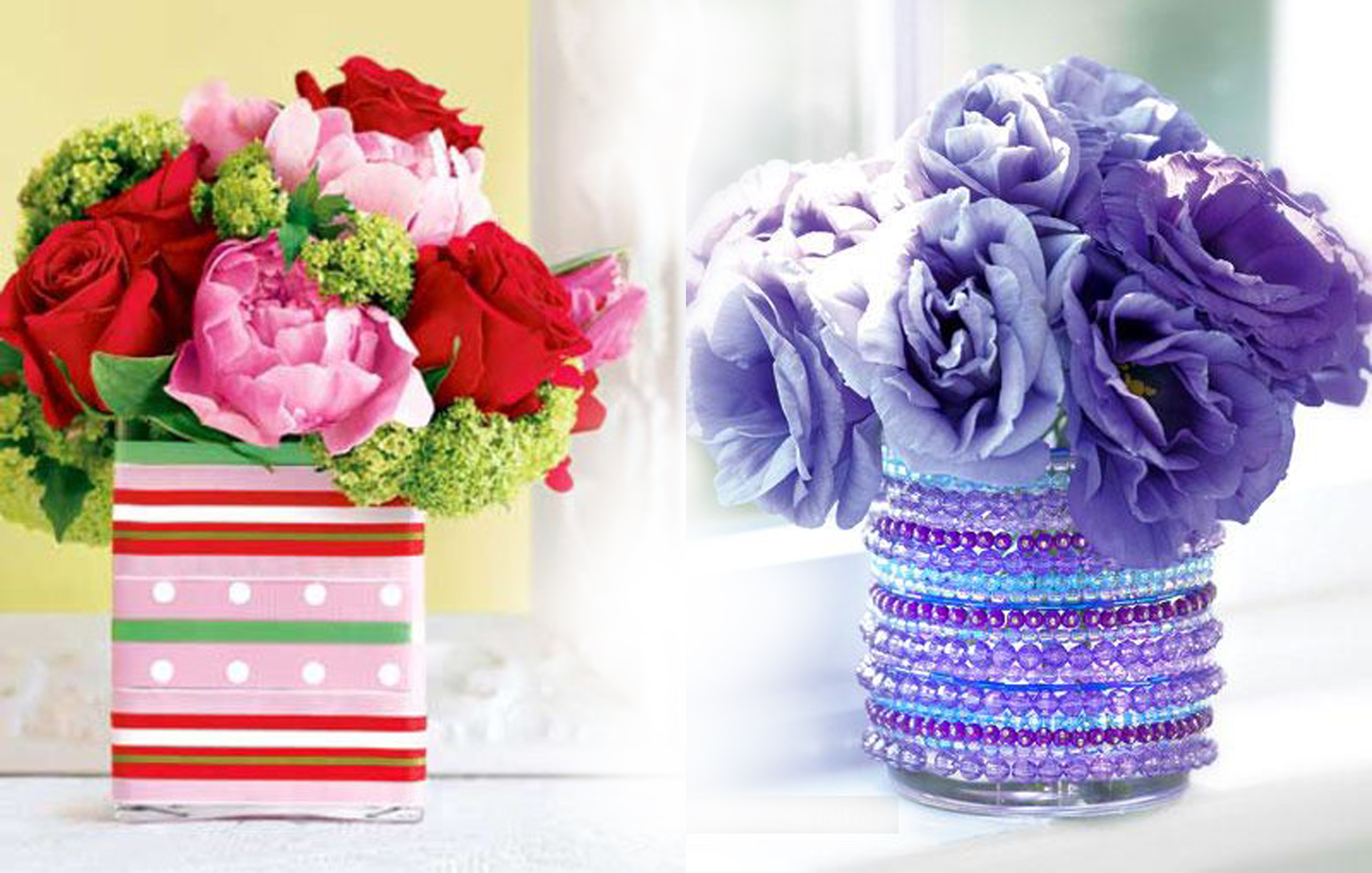 Как и чем оформить своими руками вазу