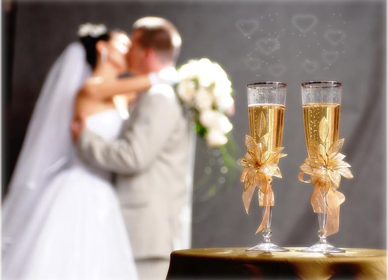 Картинки со свадебными бокалами