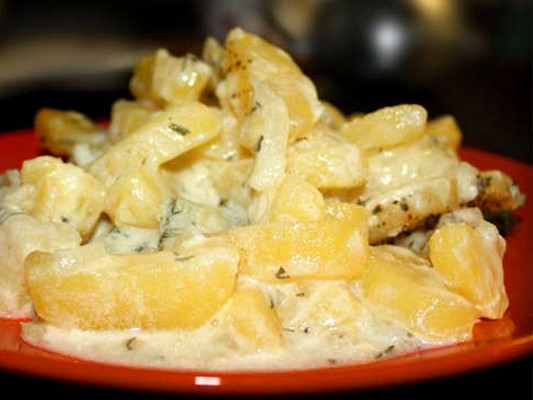 Шампиньоны с картошкой в сметане на сковороде рецепт пошагово