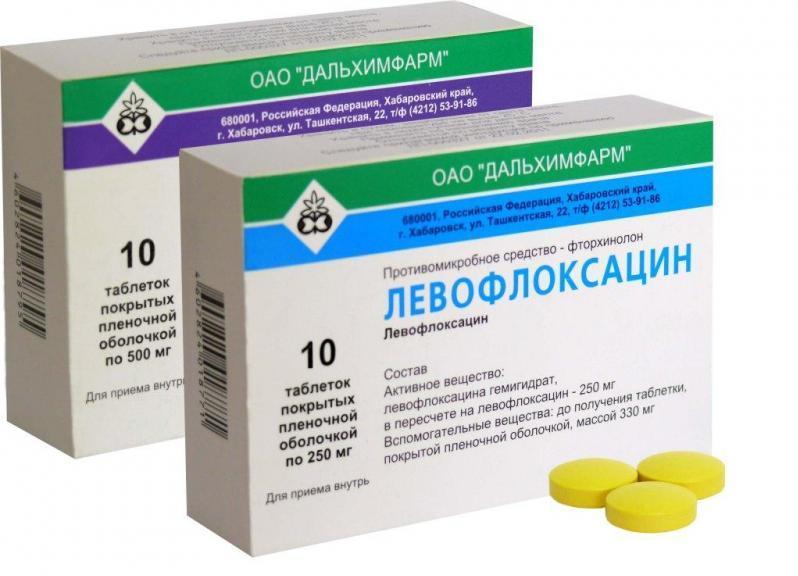 Аналог левофлоксацин 500 мг