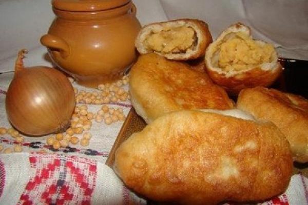 пирожки с горохом жареные рецепт