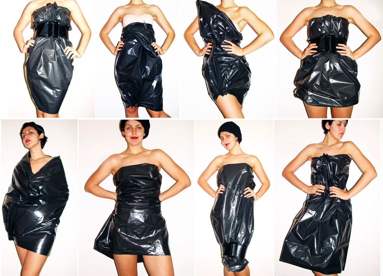 Как сделать платье из мусорных пакетов фото 133