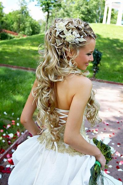 История свадебных причесок
