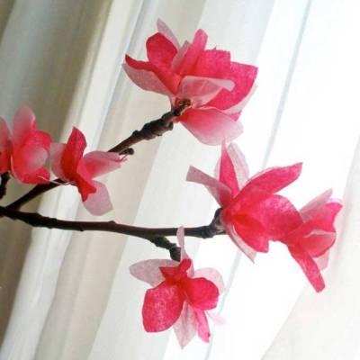 Как весенние цветы своими руками фото 81