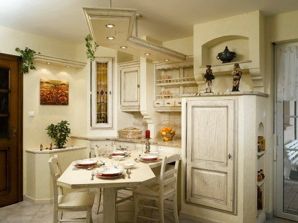 Маленькие кухни в стиле прованс
